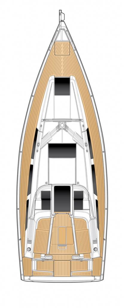 Hanse 348 Deck Layout Yacht