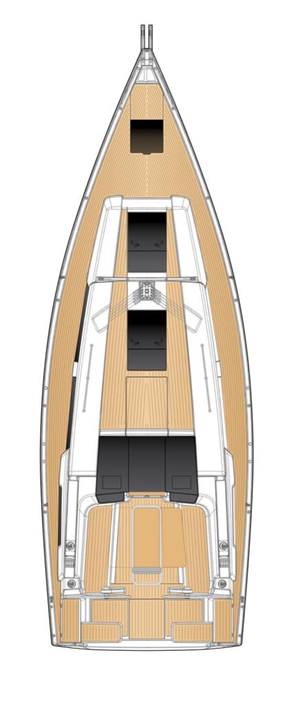 Hanse 388 Deck Layout