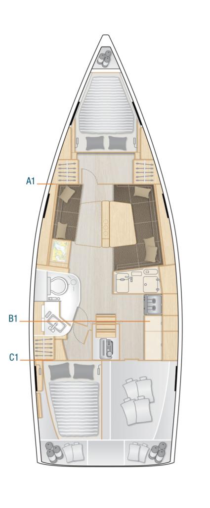 Hanse 388 Interior Layout Yacht
