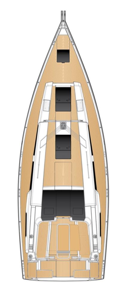 Hanse 418 Deck Layout Yacht