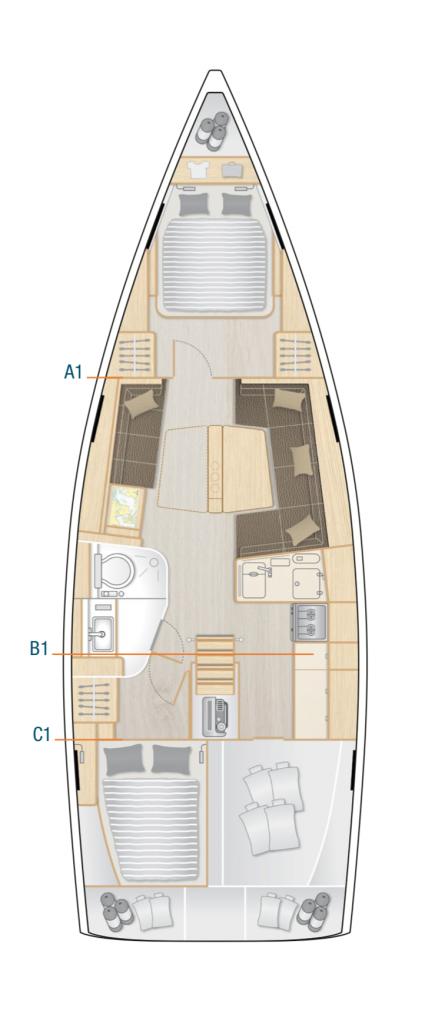 Hanse 418 Interior Layout Yacht