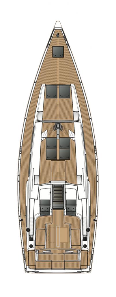 Hanse 458 Deck Layout Yacht