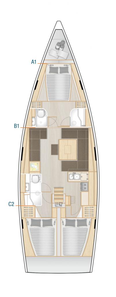 Hanse 458 Interior Layout Yacht