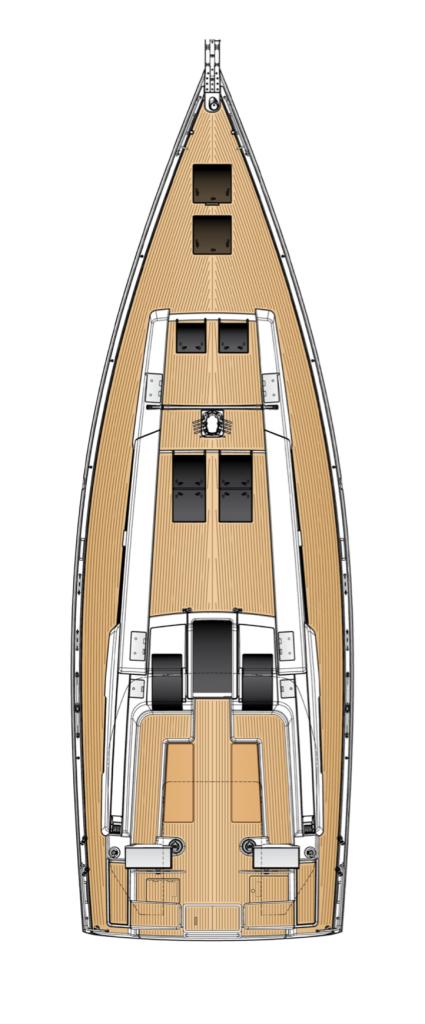 Hanse 548 Deck Layout Yacht