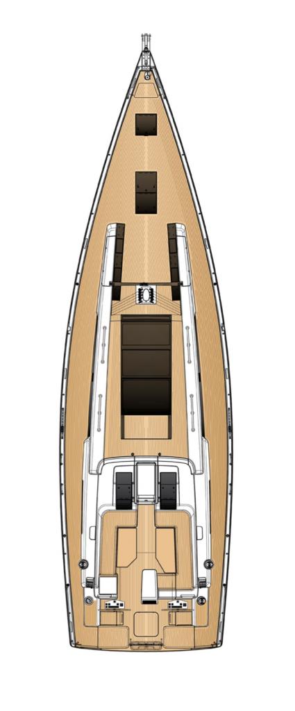 Hanse 675 Deck Layout Yacht