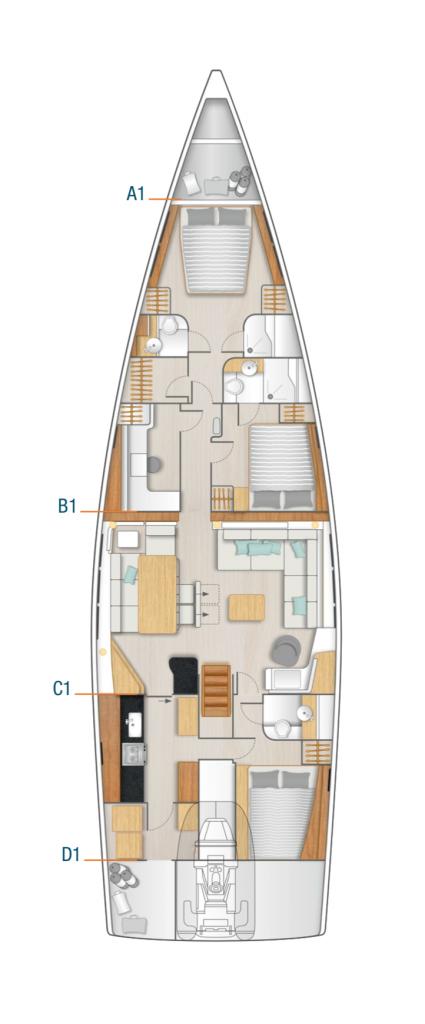 Hanse 675 Interior Layout Yacht