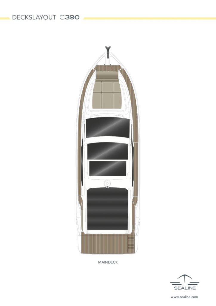 Sealine-C390-Maindeck Roof Layout FYS for sale Mallorca