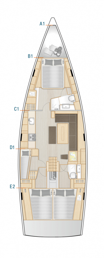 Hanse 508 Interior Layout Yacht