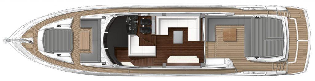 Sunseeker Predator 74 Sportsfly for Sale Brokerage FYS Baleares layout