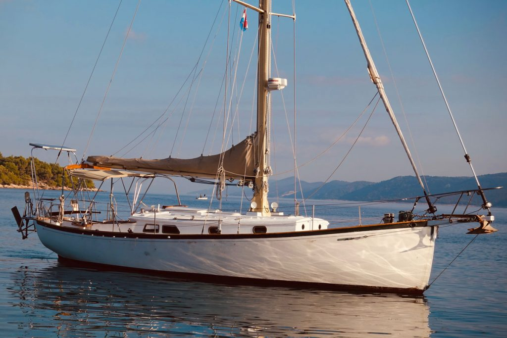 Classic Sam Crocker Design for sale 36' Flensburger Yacht Service